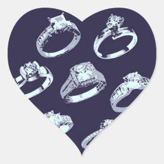 Verlobungs-Mitteilung/laden ein Herz-Aufkleber