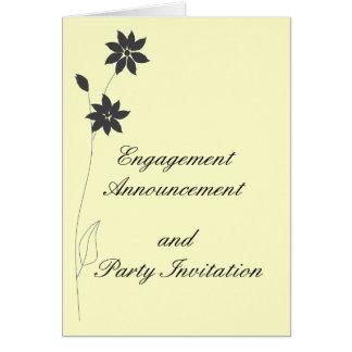 Verlobungs-Mitteilung und Party UAWG Karte
