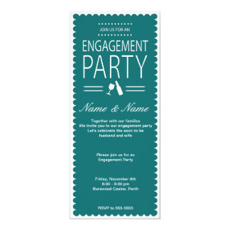 Verlobungs-Party Einladung