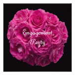 Verlobungs-Party Einladung -- Rosa Rosen
