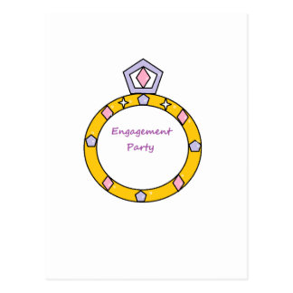 Verlobungs-Party Postkarte