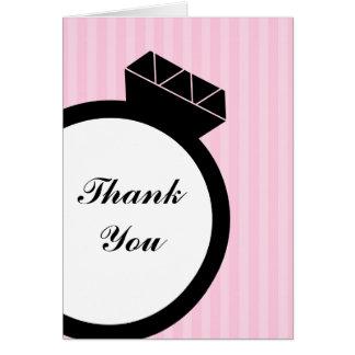 Verlobungs-Ring danken Ihnen Karten