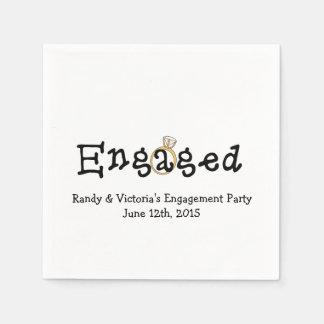 Verlobungs-Ring-Verlobungs-Party-Papierservietten Papierservietten