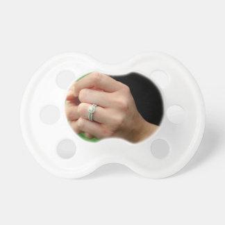 Verlobungsring mit Gänseblümchen Baby Schnuller