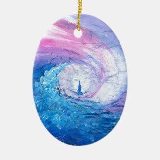Verloren in den Wellen, Seestrudel-Entwurfsspaß Keramik Ornament