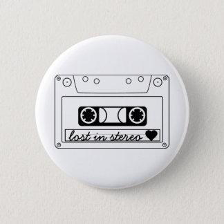 Verloren in der klassischen StereoKassette Runder Button 5,1 Cm