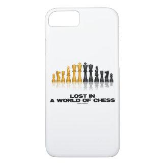 Verloren in einer Welt Schach-des reflektierenden iPhone 8/7 Hülle