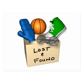 Verloren und gefunden postkarte
