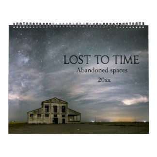 Verloren zu Zeit verlassenen Räumen Wandkalender