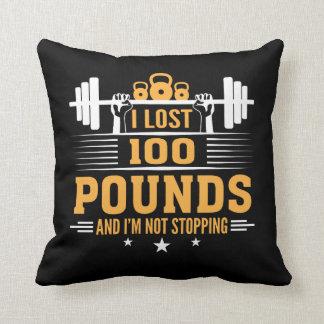 Verlorene 100 Pfund Im nicht stoppende Fitness- Kissen
