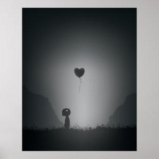 Verlorenes Herz in der Schwebe Poster