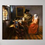 Vermeer das Glas des Wein-Plakats Poster