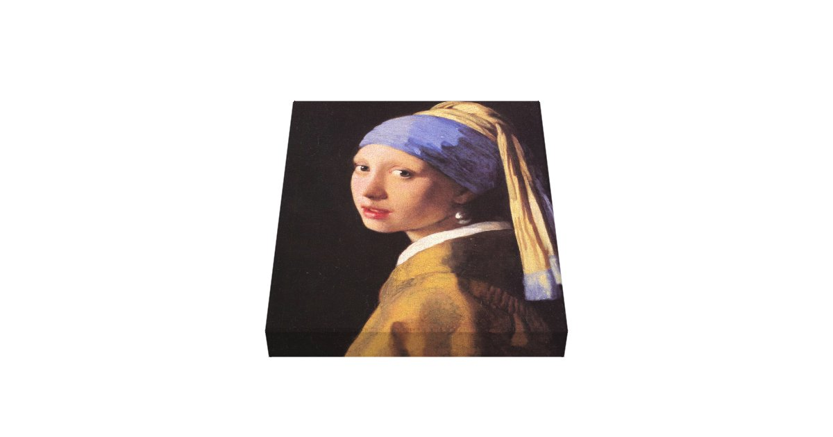 vermeer das m dchen mit dem perlenohrring leinwand druck zazzle. Black Bedroom Furniture Sets. Home Design Ideas