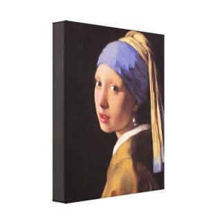 Vermeer - das Mädchen mit dem Perlenohrring Leinwand Druck