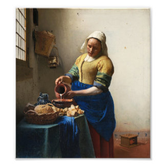Vermeer der Milkmaid-Foto-Druck Fotografischer Druck