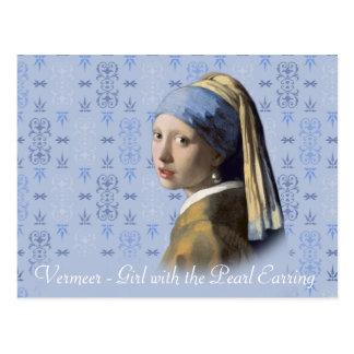 Vermeer- Mädchen mit dem Perlen-Ohrring Postkarte