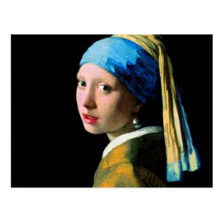 Vermeer - Mädchen mit einem Perlen-Ohrring Postkarte