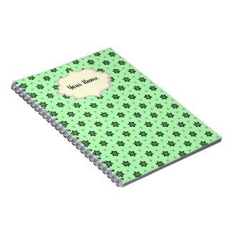 Vermerknotizbuch Sternthema schmilzt grün Notizblock