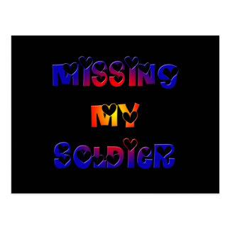 Vermisst mein Soldat Postkarte