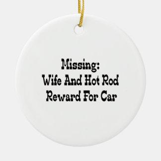 Vermisste Ehefrau-und Auto-Belohnung für Auto Keramik Ornament