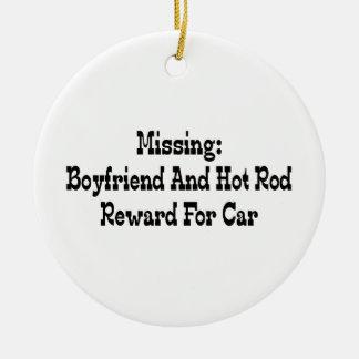 Vermisste Freund-und Auto-Belohnung für Auto Keramik Ornament