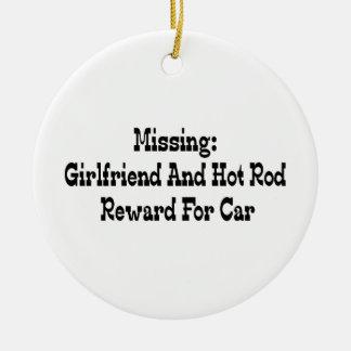 Vermisste Freundin-und Auto-Belohnung für Auto Keramik Ornament