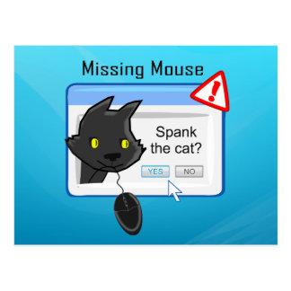 Vermisste Maus? Verprügeln Sie die Katze! Postkarte