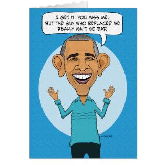 Vermisster Obama auf Geburtstag Karte