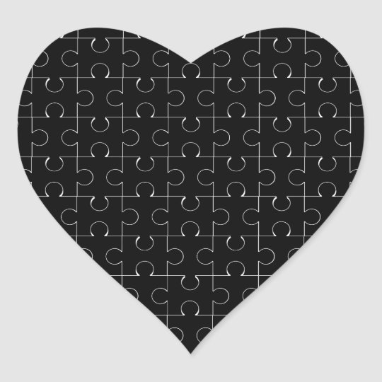 Vermisstes Stück Herz Sticker