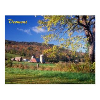 Vermont-Bauernhof Postkarte