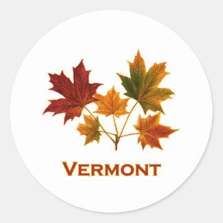 Vermont-Fall-Laub - Ahorn-Blätter Runder Aufkleber