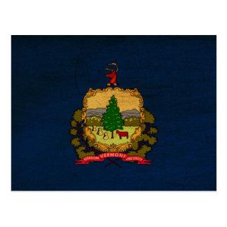 Vermont-Flagge Postkarte