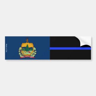 Vermont-Flagge u. dünne blaue Linie Autoaufkleber