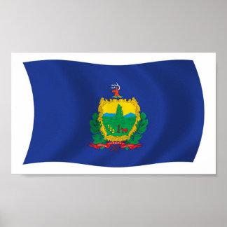 Vermont-Flaggen-Plakat-Druck Poster