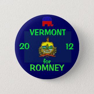 Vermont für Romney 2012 Runder Button 5,1 Cm