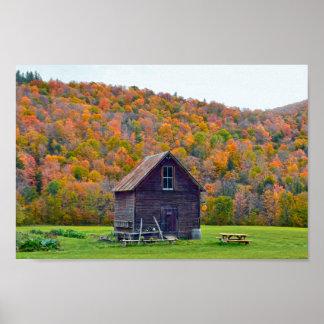 Vermont-Garten verschüttet im Herbst Poster