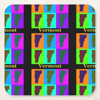 Vermont-Karte Rechteckiger Pappuntersetzer