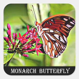 Vermont-Monarchfalter Quadratischer Aufkleber