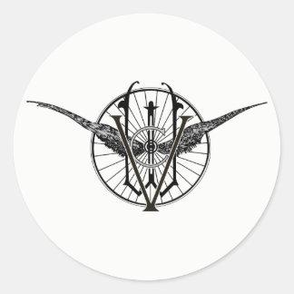 Vermont-Rad-Verein-Logo-Aufkleber Runder Aufkleber