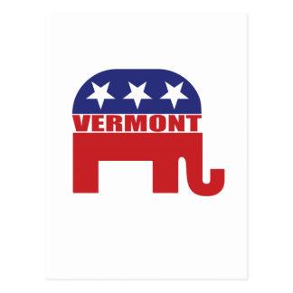 Vermont-Republikaner-Elefant Postkarte
