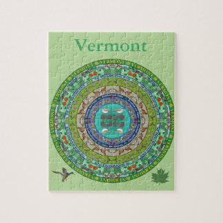 Vermont-Staatmandala-Puzzlespiel Puzzle