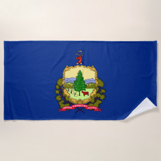 Vermont-Staats-Flagge Strandtuch