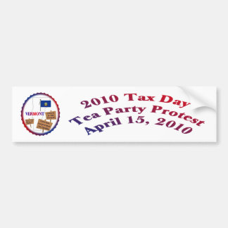 Vermont-Steuer-Tagestee-Party-Protest Autosticker
