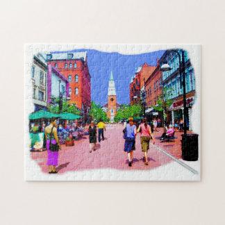 Vermont-Straße, die Puzzlen malt Puzzle