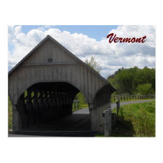 Vermont-überdachte Brücke Postkarte