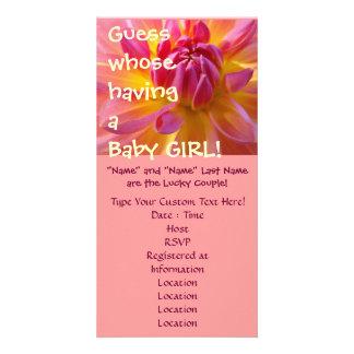 Vermutung deren, die ein Baby hat! Individuelle Foto Karte