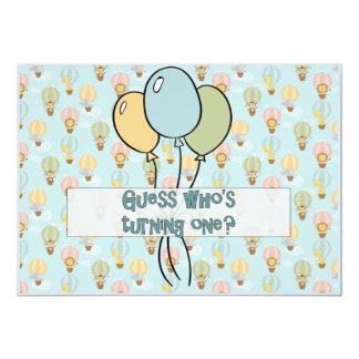 Vermutung, die ein dreht, Tierballon für Jungen Karte