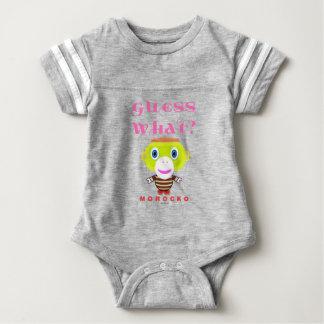Vermutung Was-Niedlicher Affe-Morocko Baby Strampler