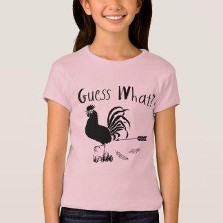 Vermutung welcher lustige Witz des Huhn-Hinterns T-Shirt
