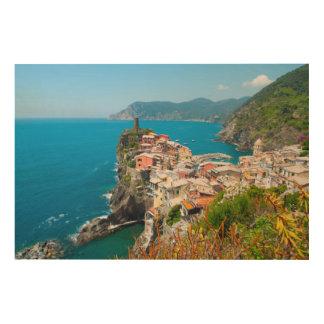 Vernazza Cinque Terre Italien Holzwanddeko